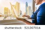 background blur business woman...   Shutterstock . vector #521307016