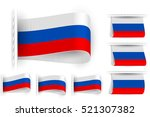 national state flag of russia ... | Shutterstock .eps vector #521307382