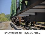 a freight train on the railroad | Shutterstock . vector #521307862