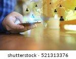 world connected.social network... | Shutterstock . vector #521313376