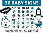 30 baby signs. vector | Shutterstock .eps vector #52131463