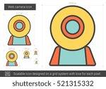 web camera vector line icon...