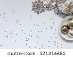 over head flat lay new years... | Shutterstock . vector #521316682