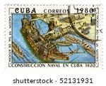 cuba   circa 1980  a stamp... | Shutterstock . vector #52131931