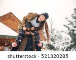 happy young couple having fun... | Shutterstock . vector #521320285