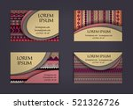 business card or visiting card... | Shutterstock .eps vector #521326726