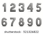 numbers on white background.... | Shutterstock . vector #521326822