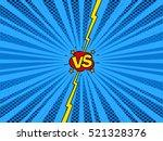 comic book versus template... | Shutterstock .eps vector #521328376