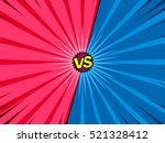 comic book versus template... | Shutterstock .eps vector #521328412