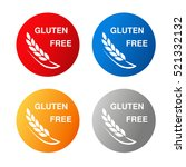 vector gluten free symbols... | Shutterstock .eps vector #521332132