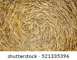 Closeup Of Golden Hay Roll...
