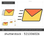 send email vector line icon... | Shutterstock .eps vector #521336026