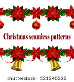 set of n seamless christmas... | Shutterstock .eps vector #521340232