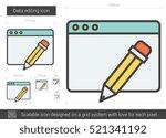 data editing vector line icon... | Shutterstock .eps vector #521341192