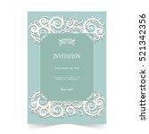 invitation card  wedding card... | Shutterstock .eps vector #521342356