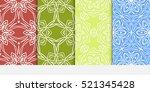 set of ornamental flower design.... | Shutterstock .eps vector #521345428