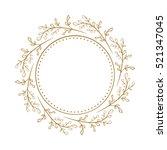 vector floral vintage frame on...   Shutterstock .eps vector #521347045