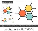 molecular structure vector line ... | Shutterstock .eps vector #521352586