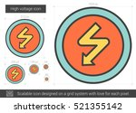 high voltage vector line icon...   Shutterstock .eps vector #521355142