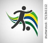 soccer sportsman flag... | Shutterstock .eps vector #521361112