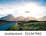 Stock photo mountain sunrise isle of skye 521367982