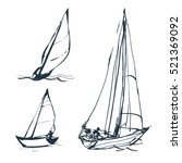 set of vector drawings of... | Shutterstock .eps vector #521369092