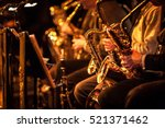 big band saxophone section.... | Shutterstock . vector #521371462