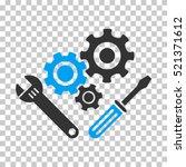 mechanics tools icon. vector... | Shutterstock .eps vector #521371612