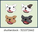 french bulldog vector | Shutterstock .eps vector #521372662
