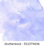 dark violet watercolor wet... | Shutterstock .eps vector #521374636