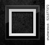 black frame on black stone... | Shutterstock .eps vector #521377372