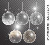 christmas ball isolated. new...   Shutterstock .eps vector #521381146