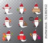 set of christmas santa claus.... | Shutterstock .eps vector #521382412