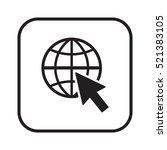 website  icon vector. flat... | Shutterstock .eps vector #521383105