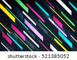 abstract colorful stripes over... | Shutterstock .eps vector #521385052