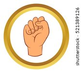 hand with clenched fist vector... | Shutterstock .eps vector #521389126
