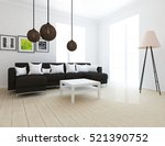 white room with sofa. living... | Shutterstock . vector #521390752