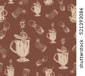 seamless pattern with winter... | Shutterstock .eps vector #521393086