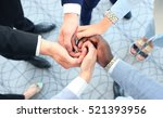 multiethnic group of young... | Shutterstock . vector #521393956