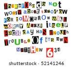 matthew 6 34 | Shutterstock . vector #52141246