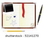 open personal organiser | Shutterstock .eps vector #52141270