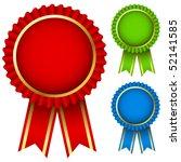 blank award ribbon rosettes in...   Shutterstock .eps vector #52141585