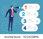 businessman announce.... | Shutterstock .eps vector #521423896