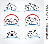 house set.vector | Shutterstock .eps vector #521425522