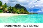 mauritius island. beautiful le ... | Shutterstock . vector #521430502