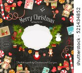 merry christmas card. | Shutterstock .eps vector #521434852