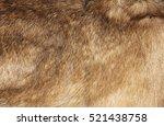 natural fur texture closeup.... | Shutterstock . vector #521438758