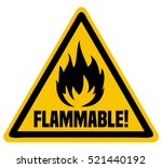 flammable triangular warning... | Shutterstock .eps vector #521440192
