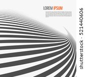 striped abstract form. vector... | Shutterstock .eps vector #521440606