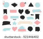 fashion patch badges and... | Shutterstock .eps vector #521446402